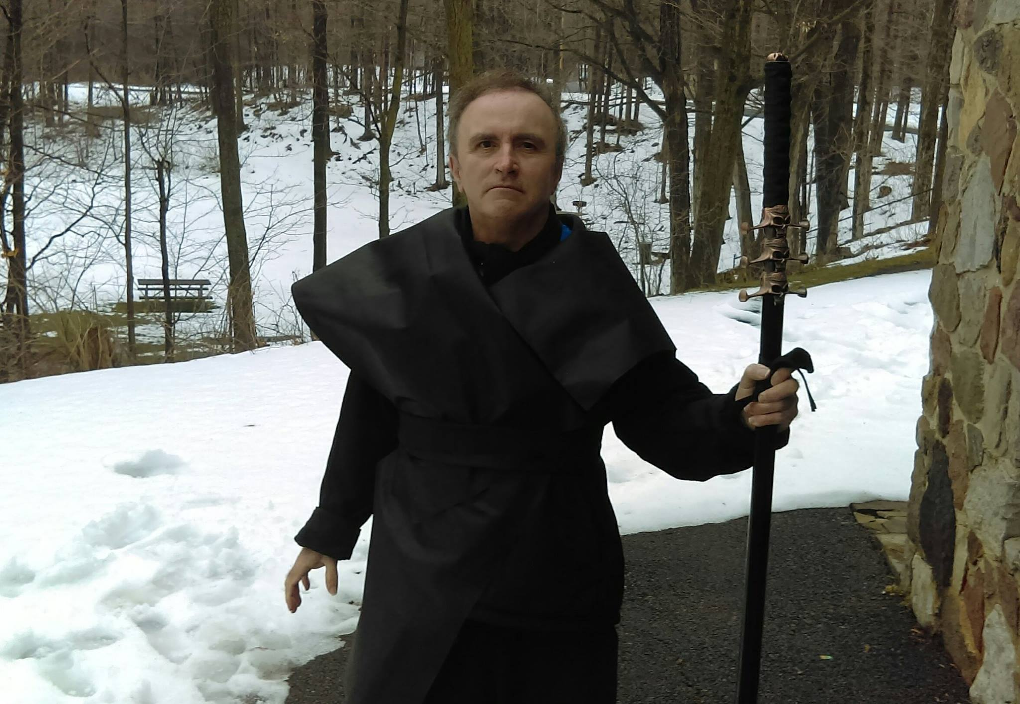 Alan as a dark villain in Star Wars fan/tribute film for film competition