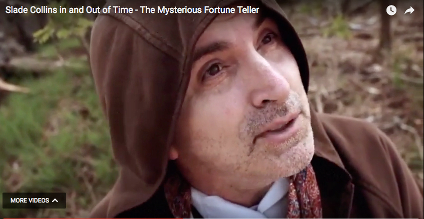 """Alan as The Mysterious Fortune Teller from feature film """"Slade Collins: In and Out of Time""""."""